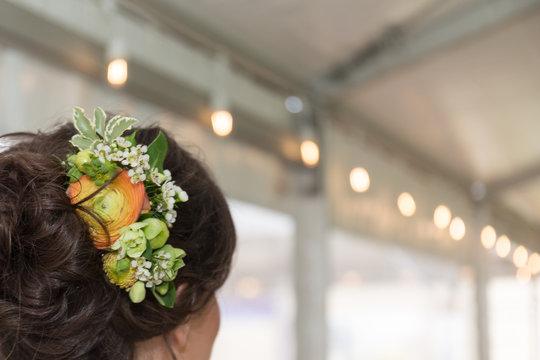 Bride wedding day hair up do stylist design