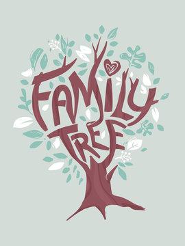 Tree Family Illustration