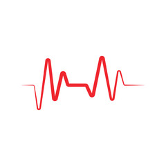 Heart beat ekg graphic design template vector illustration
