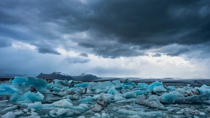 Melting ice, glacier, global warming