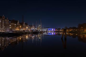 Ruhige und spiegelglatte See um Lübeck
