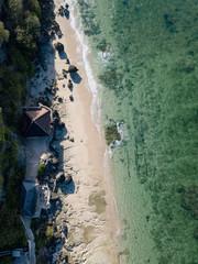 Indonesia, Bali, Aerial view of Melasti beach