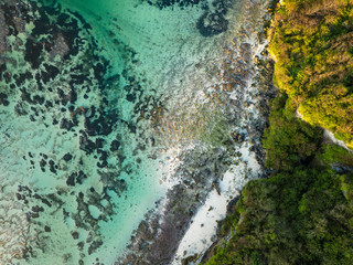 Indonesia, Bali, Aerial view of Green Bowl beach