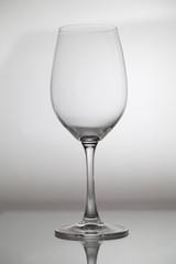 Glass wine glass is onglass
