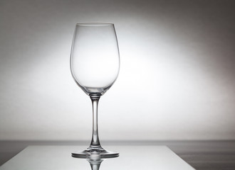 Glass wine glass is onglass