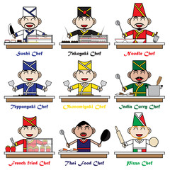 Character Cartoon Chef of National Foods