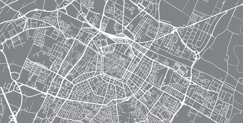 Urban vector city map of Modena, Italy