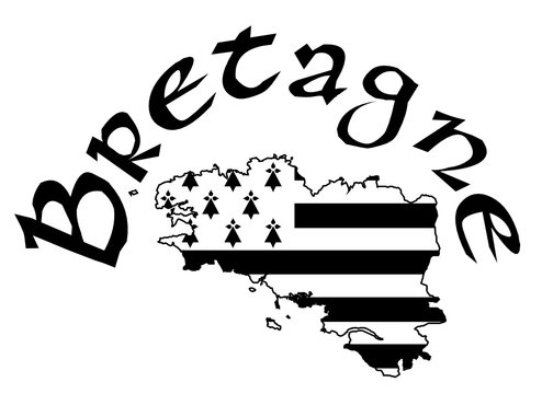 Made in Brittany (Produit en Bretagne) vector logo and labels