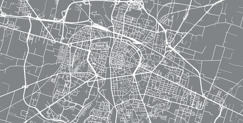 Urban vector city map of Parma, Italy