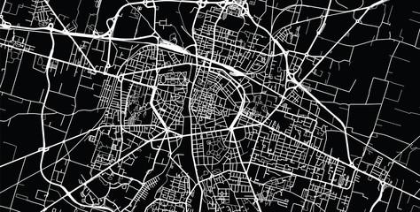 Urban vector city map of Parma, Italy