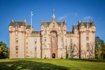 Fyvie castle in atumn, Scotland, Great Britain