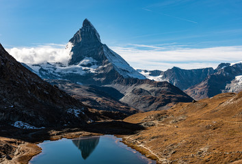 Photo sur Aluminium Reflexion landscape mountain in Switzerland