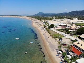 Greece aerial photo taken at the beautiful coastal town of St George South in Greece