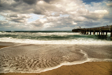 The Lake Worth Beach Pier in Lake Worth, Florida