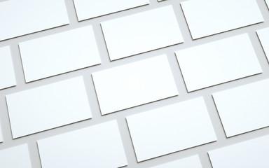 Business Card Mock-Up (US 3.5 x 2) - Multiple Tiled Cards. 3D Illustration