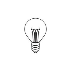 Light bulb icon vector for logo design
