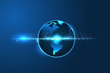 earth globe in space