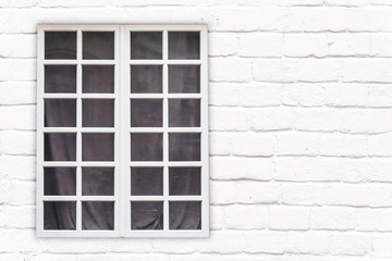 Window Frame on the Facade of House