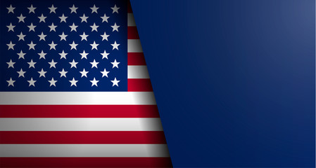 American flag vector background with form for text for any web design