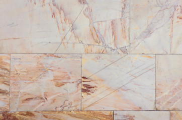 Marble texture – wall with stone slab background in ancient building