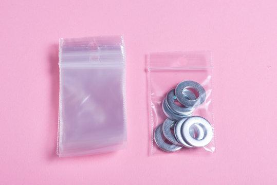 Lot of clear plastic zip lock bags