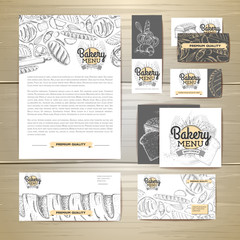 Bakery menu document template. Corporate identity