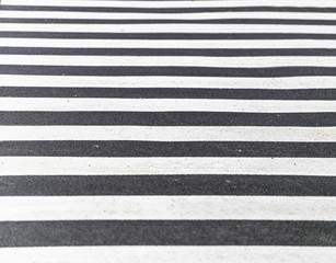 Crosswalk in Black and white Zebra Tone