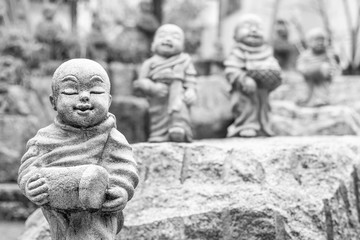 Smiling Buddha Statues in Kyoto