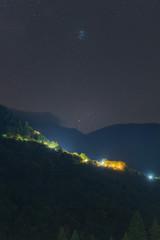 Starry Sky Above Agrafa Mountains