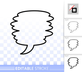 Speech Bubble simple badge black line vector icon