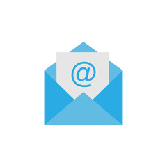 Letter icon, email sign. Vector illustration. Flat design. Message icon.