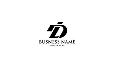 Fototapeta D L letter Logo Design Template Vector obraz