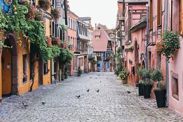 Beautiful street of Riquewihr