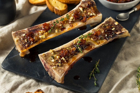 Homemade Roasted Beef Bone Marrow