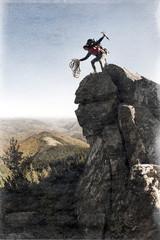 rock climber retro photo
