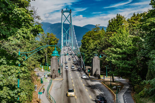 Lions Gate Bridge from Stanley Park
