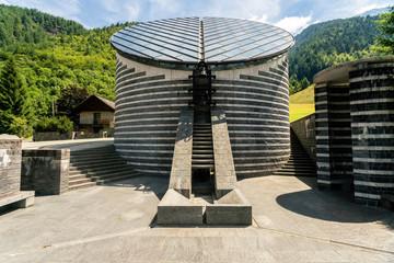 Church of San Giovanni Battista designed by Mario Botta, Mogno, Ticino, Switzerland