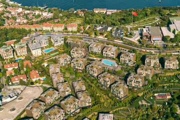 Residential district aerial view, Istanbul, Turkey