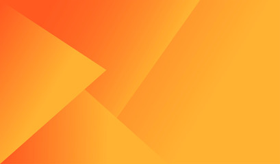 Orange color geometry background abstract art. Vector illustration