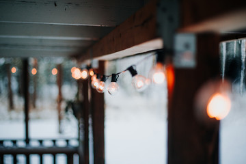 Vintage styled Christmas lights