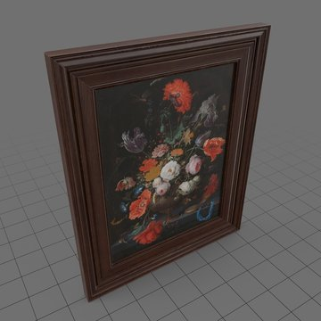 Framed painting of flowers