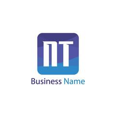 Initial letter NT logo template Design