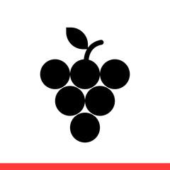 Grape icon, vector illustration