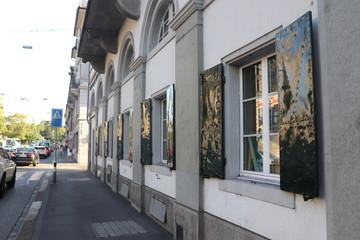 old windows in zurich