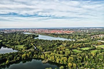 Maschsee Hannover Drohne Drohnenaufnahme von oben