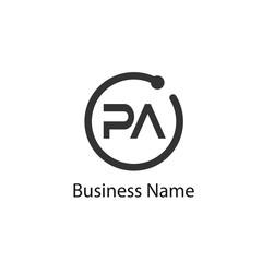 Obraz Initial Letter Pa Logo Template Design - fototapety do salonu