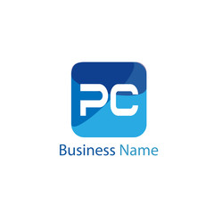 Initial Letter PC Logo Template Design