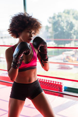 black woman boxer