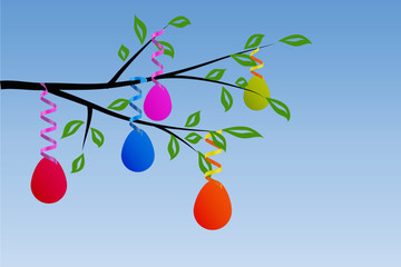 Easter Eggs in Tree