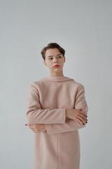 Portrait of gorgeous caucasian teen model